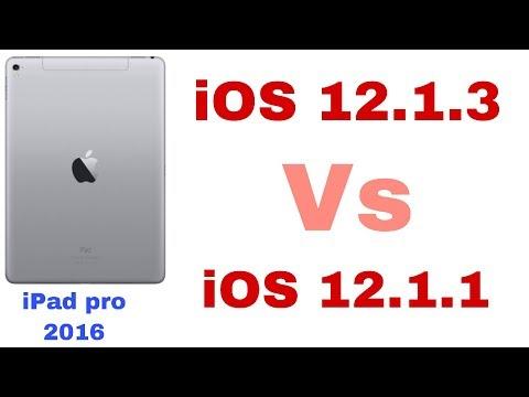 iOS 12.1.3  Vs iOS 12.1.1 Speed test on iPad Pro 2016 | iSuperTech