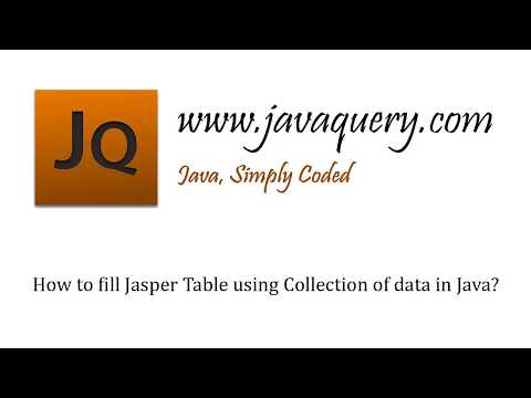 How to fill Jasper Report Table using Collection of data in Java?