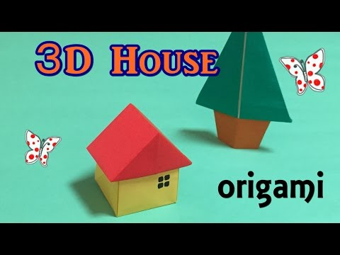 Origami house 3D easy for beginners | How to make a paper 3D house step by step | origami  tutorial