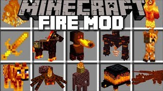 Minecraft FIRE MOD / SURVIVE AGAINST FIRE MOBS WITH FIRE ARMOR AND WEAPONS!! Minecraft