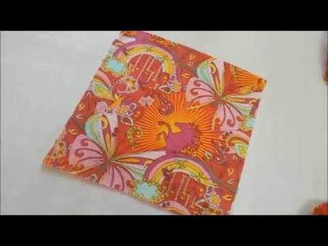 DIY : How To Make a Handkerchief : Easy method to sew table cloth, napkins , baby sheet picnic sheet