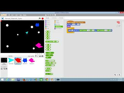 Scratch - Make an Asteroids Game - 07 - Making the Enemies Move Around