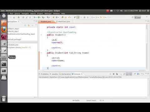 Java Constructor, Method and Static variable - Tutorial 3