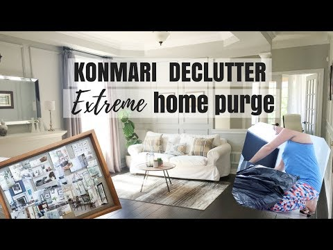 KONMARI METHOD EXTREME HOME DECLUTTER | KONDO BEFORE AND AFTER CLEAN HOME | Nesting Story