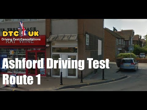 Ashford Driving Test Route 1| DTC-UK | Driving Test UK