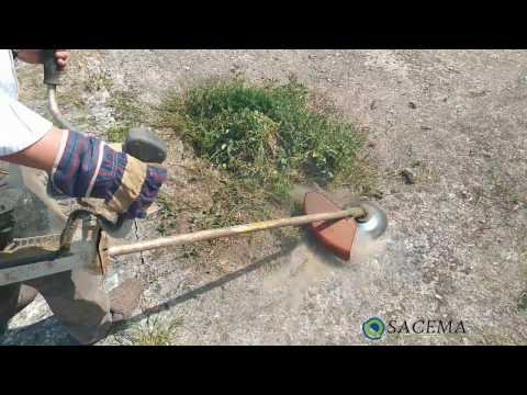 Weed brush for grass trimmers