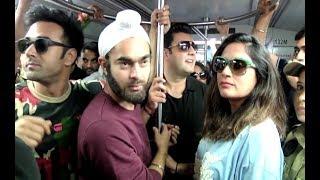 Fukrey Returns Full Cast Travel In Mumbai Metro - Pulkit, Richa, Varun And Manjot