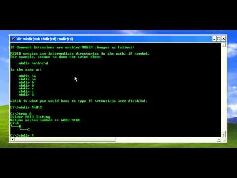 DOS Commands 4 : dir, mkdir(md), chdir(cd) and rmdir(rd)