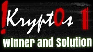 !Krypt0s #1 - Winner and Solution