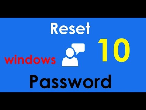 Reset or unlock Windows 10 password without third party software