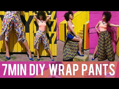 🇨🇷 DIY WRAP PANTS IN 7MIN?! 🇨🇷 COSTA RICA & PINTEREST INSPIRED 🇨🇷 DIY CLOTHES