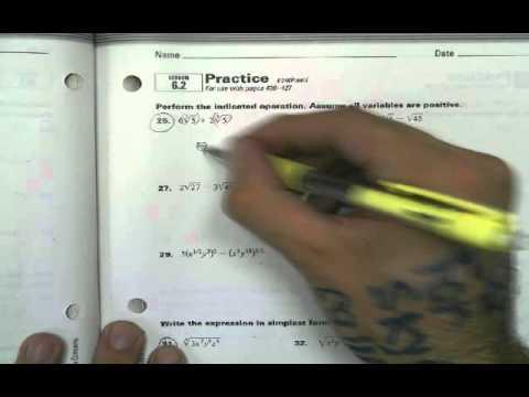 6.2 Algebra 2 Homework help