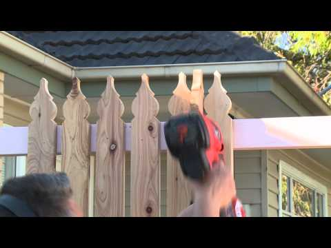 How To Install Pickets For A Picket Fence - DIY At Bunnings