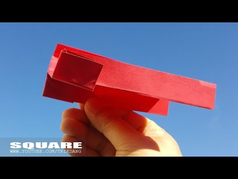 EASY PAPER AIRPLANE for Kids - How to make a Paper Airplane | Square
