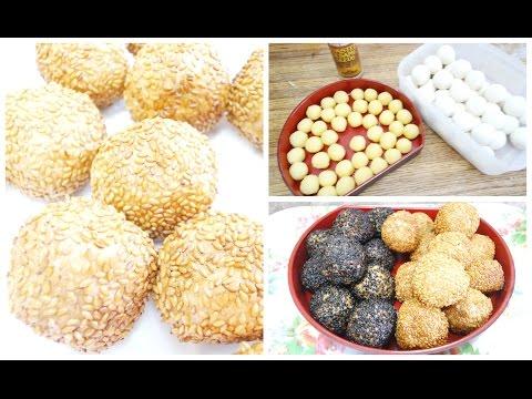 Sesame Seed Balls With Mung Bean Paste
