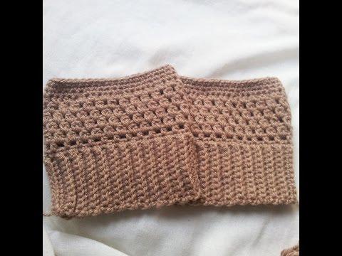 Boot cuffs de croche fácil / crochet boot cuffs easy