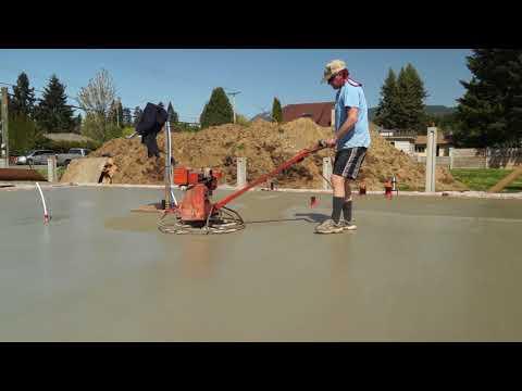 Passive Home Construction in Port Alberni BC Canada Video #7 finishing the pad