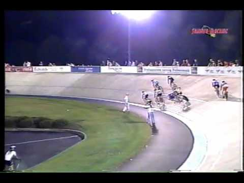 Velodrome Crash: 2006 Devil Scratch race at the Lehigh Valley Velodrome (now the VPCC)