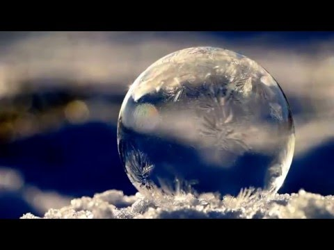 Bubble freezing in the snow! Magical!