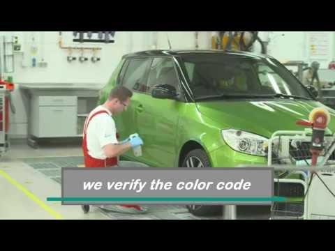 Factory Paint Color Matching at Bodytech Auto Body Collision Repair Shop Ventura