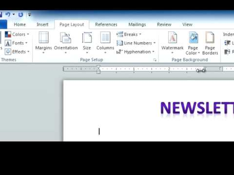 Microsoft Office Word PC: Creating a Newsletter