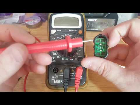 How to Test polarity of smd led with multimeter