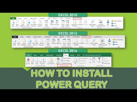How to Install Excel Power Query in Excel 2010, Excel 2013 & Excel 2016 (Get & Transform)