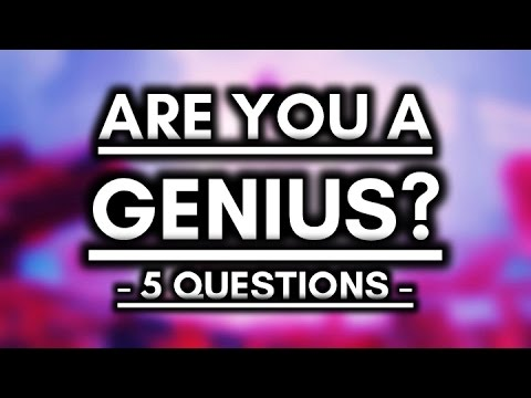 Genius IQ Test - 96% Fail! - 5 Questions