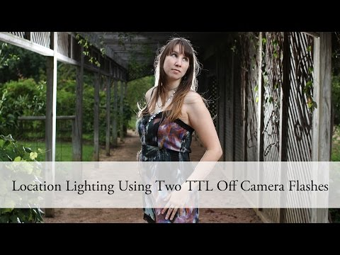 Location Back Lighting Using Two TTL Off Camera Flashes #aeocl - Canon Nikon Yongnuo