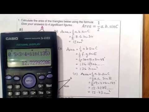 Area of a Triangle 1of3 Trigonometry National 5