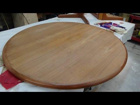 Teak Table Refinish - Part One- The Prep Work
