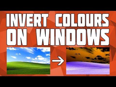 How to Invert Colours on Windows! Invert Windows Colour!