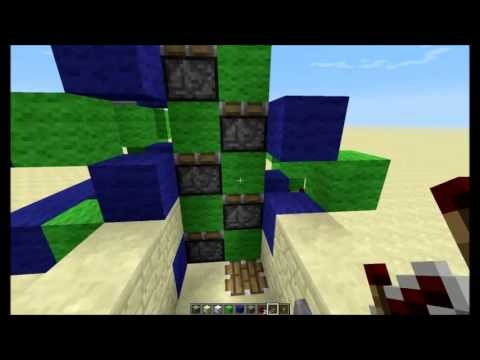 Minecraft 1.6.2 Server Friendly Up and Down Elevator Tutorial