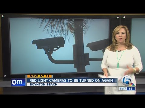 Red light cameras to be turned on again in Boynton Beach