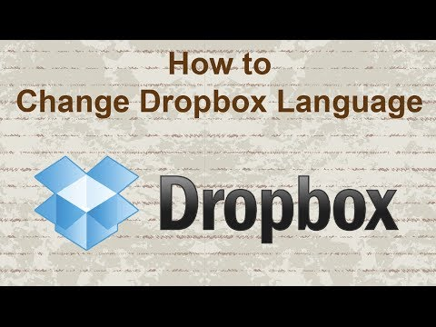 How to change Dropbox language