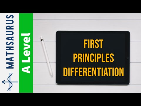 AS Maths - First Principles differentiation of polynomial, square root and reciprocal functions