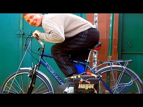 A 220 volt homemade generator.  DIY Bike Generator
