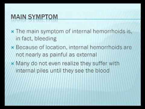 Bleeding Internal Hemorrhoids