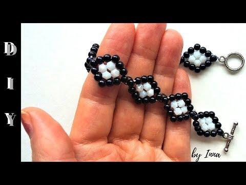 Beaded bracelet tutorial. Easy pattern