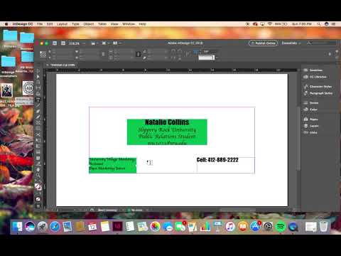How to Create a Basic Business Card on InDesign