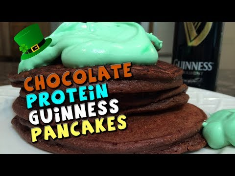 Chocolate PROTEIN Guinness Pancakes Recipe (Healthy)