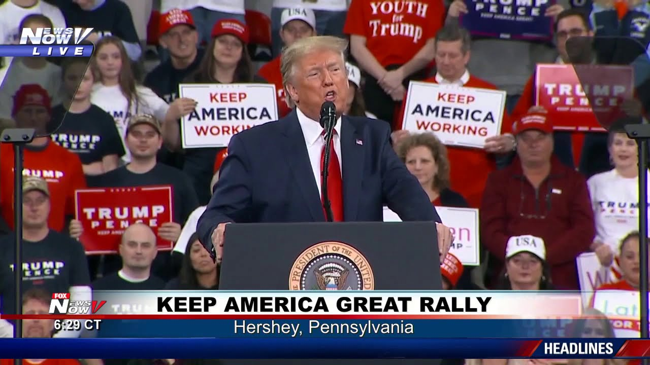 FULL RALLY: President Trump in Hershey, Pennsylvania