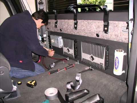 Chevy Silverado Truck Custom Car Stereo with Custom Subwoofer Enclosure