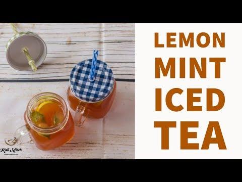 Lemon Mint Iced Tea-How to Make Iced Tea-Iced Tea recipe at Home-Kalimirchbysmita-Ep304
