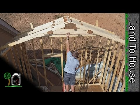 Install Top Plate and Trusses - Build a Workshop #9
