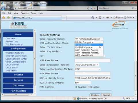 BSNL Broadband modem Configuration Teracom and Syrma Make Type2 Modems