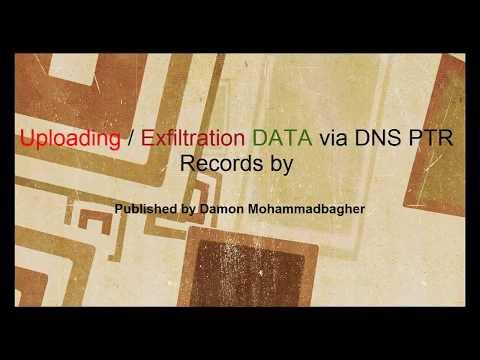 Exfiltration DATA via DNS PTR Records