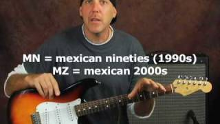 How to date your Mexican made Fender Stratocaster guitar mim