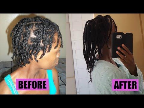 Natural Hair  Braids helped my hair grow!! (4B/4C hair)