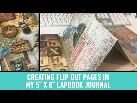 Creating Flip Out pages in my 5x8 Lapbook Journal